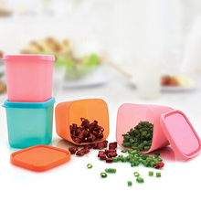 Tea Bean Grain Spice Food Grain Plastic Storage Box For Kitchen Fridge Container Seasoning Cans with Cover Kitchen Tools