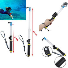 For Gopro Transparent Retracable Floating Extension Pole Float Floaty Monopod With WIFI Remote Clip For SJCAM SJ4000 Xiaomiyi
