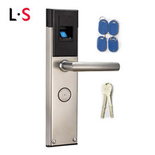 Biometric Electronic Smart Door Lock Fingerprint+4 Cards+ 2 Mechanical Keys Keyless Lock Smart Entry L&S L16088BS
