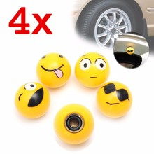 4pcs Universal Wheel Tire Tyre air Valve Stem Dust Cover Cap Car Truck Bike