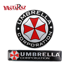 3D Stickers Aluminum Umbrella Corporation Car Sticker and Decals 2 Types Car Styling 3D Car Decor For BMW AUDI VW Ford Stickers(China)