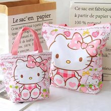 Kawaii Hello Kitty Bag Bear Rabbit Canvas Shopping Bag handbags Foldable Folding Grocery Bags Large Eco Cartoon Tote Bags
