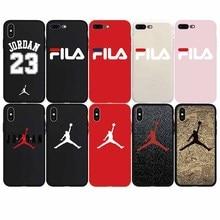 Brand NEW Jordan AIR Jump man Soft Case iPhone 7 7Plus 8 8Plus X Xs Max XR 6 6s Plus 5 5s SE Phone Cover Cases Coque Fundas