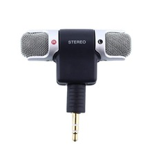 3.5mm Plug Electret Condenser Mic Uni-directional stereo Microphone for Notebook laptop PC digital Voice recording Mikrafone
