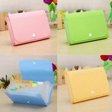 Fashion 17.7x11.8x2.3cm Durable PP Organizer Bags 12 layers File Document Folder Bag Bills Receipts Pouch Card Holder Case