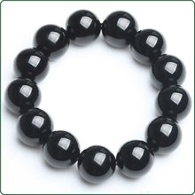 obsidian Bracelets Free shipping fashion gift Hot sale display wedding jewelry Natural obsidian jewellery Retail shop