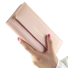 QICAI.YANZI 2017 Best Deal Fashion Handbags Lady Women Wallets Bag Popular Purse Long PU Handbags Card Holder Birthday Bags(China)