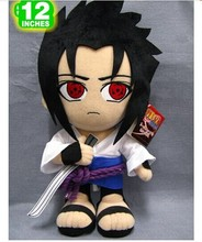 Movies & TV gift toy naruto plush toy standing Itachi Uchiha Sasuke birthday gift about 32cm(China)