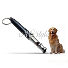 2017 Hot Sale Promotion Beeper Ultrasonic Dog Repeller 90mm Pet Dog Training Adjustable Whistle Pitch Ultrasonic Sound K4216(China)