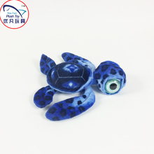 2016 New favor toy model stuffed animal sea turtle plush toy 40# blue color with big eyes