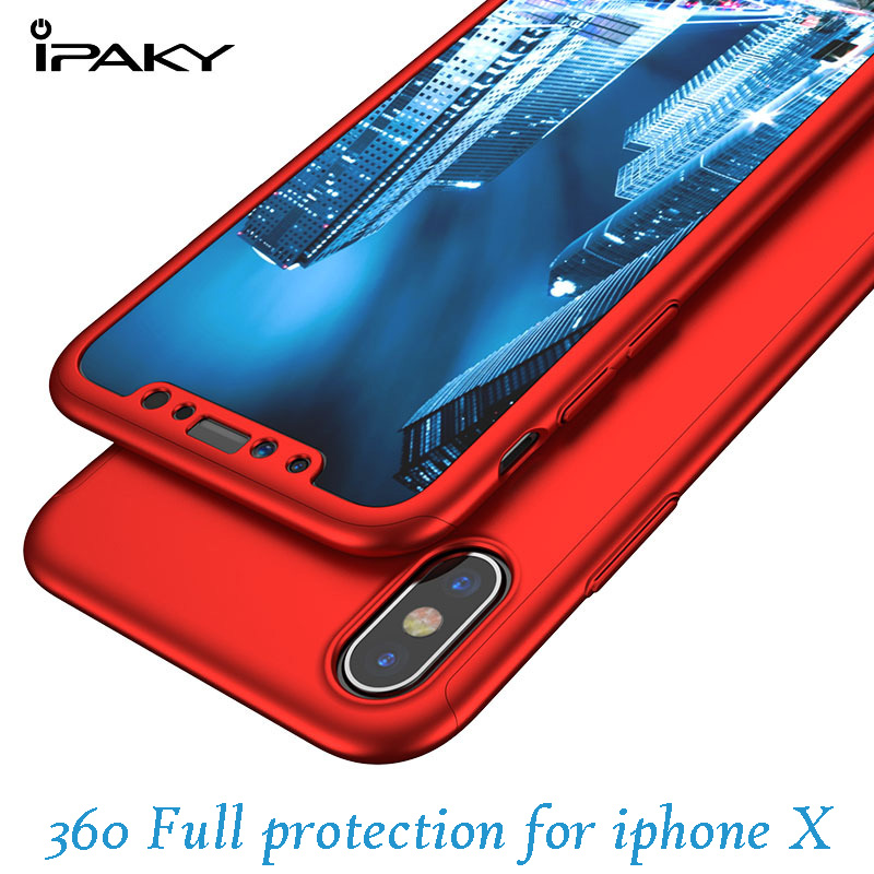 ipaky iphone x case cover screen protector glass iphone x new cover front back full protect apple x iphonex 10 case