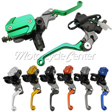 2 pcs 22mm Universal Motorcycle Brake Master Cylinder Reservoir Levers For Kawasaki KX65 KX125 KLX250 D-TRACKER KX 65 125