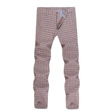 Full Length Dress Pant 2016 Design Plaid Classical Vintage Men's Trousers Male Casual Fashion Business Formal Office Suit Pants