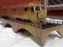 1/48 Scale Copper Chinese Dongfeng Chairman MAO zedong 4D diesel locomotive Train Model 1893 orbital dynamic Train Model(China)