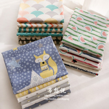 160x50cm fox wave star Twill Cotton Fabric DIY Home Christmas Children's Wear Cloth Make Bedding Quilt Decoration Home 180g/m(China)