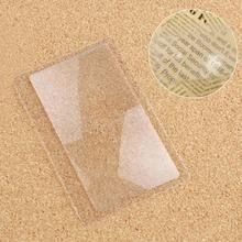 10 Pcs/Set Transparent Credit Card 3 X Reading Magnifier Magnification Magnifying Fresnel Lens, Card Style Magnification Lens