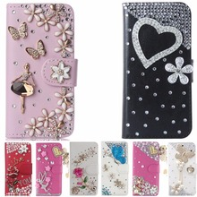 Purse Flip Card Pouch Stand Crystal Diamond Rhinestone Cover Case For UMI London(China)