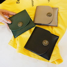 Fashion Cheaper Leather Short Women Wallet Lady Purses Practical Mini Big Capacity Leather Women Wallets Holder Coin Bag -3637
