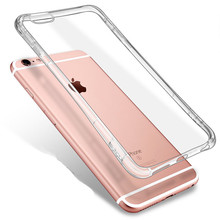 Mobile Phone Cases Soft Silicone Clear Coque for Iphone 4 4s 5 5s 5c SE 6 6s 7 Plus Case Cover for I Phone Ipone Iphon Fundas(China)