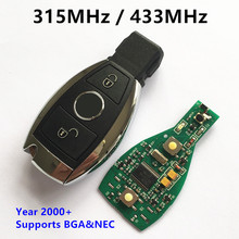 Car Smart Key for Mercedes BENZ 2000+ 315MHz 433 MHz Support NEC&BGA 2 Buttons Keyless Entry Remote Key