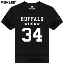 THURMAN THOMAS 34 buffalo custom made name number t shirt Houston Texas t-shirt team usa print word black Oklahoma Lee clothing(China)