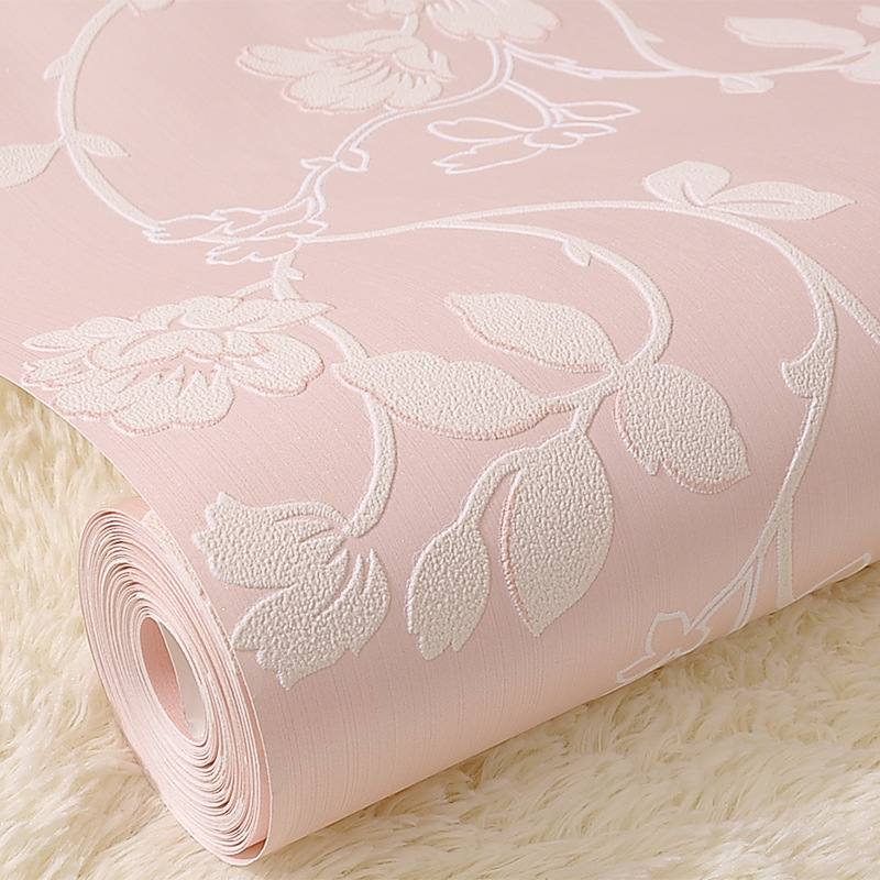 beibehang Dimensional garden flowers wallpaper non - woven bedroom bedroom full of warm living room sofa background wallpaper<br>