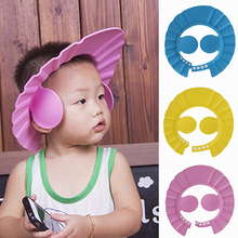 Adjustable Baby Kid Shampoo Shower Bathing Bath Protect Ear Wash Hair Cap Hat(China)