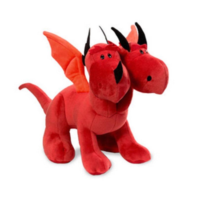 Fancytrader 12 30cm Copyrighted NICI Plush Stuffed Jordis Dragons Dinosaur  Two Heads Dragon Doll FT90427<br><br>Aliexpress