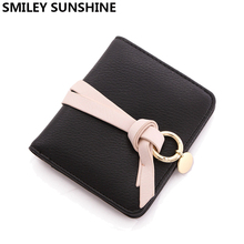 SMILEY SUNSHINE slim women wallets female small hasp wallet ladies coin purse mini thin card holder wallets portefeuille femme(China)