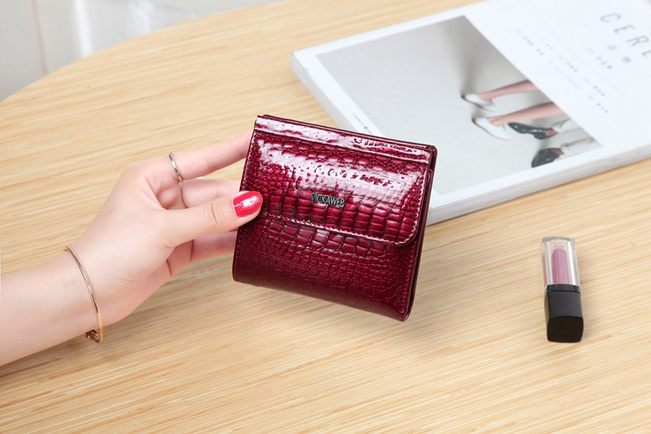 VICKAWEB Mini Wallet Women Genuine Leather Wallets Fashion Alligator Hasp Short Wallet Female Small Woman Wallets And Purses-IMG_6459