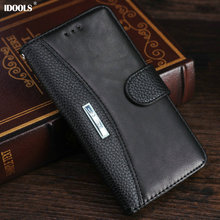 for Nokia 6 Case Luxury PU Leather IDOOLS Brand Dirt Resistant Wallet Cover Phone Bags Cases for Nokia 6 TA-1000 TA1003 5.5 Inch