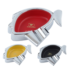 COHIBA Ashtray Portable Cigar Ashtray Metal 1 Finger Holder Travel Car Cigarette Ashtarys(China)