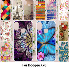 TAOYUNXI Cases Doogee X70 5.5 inch Soft Case Silicone TPU Painted Bags Butterfly Patterned Skins Shell Housings