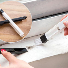 2 In 1 Polished Window Track Cleaning Brush Keyboard Nook Cranny Dust Shovel Home Cleaner Supplies 2 Colors Clean Tools