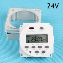 Stable CN101A 24V Digital LCD Power Programmable Time Switch Relay 8A TO 16A CN101 TIMER with protective cover weekly 7days(China)