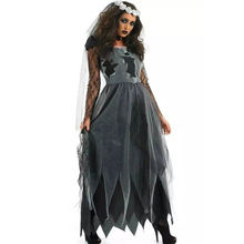 Ghost Bride Costume for Women Adult Halloween Fantasia Cosplay Fancy Dress