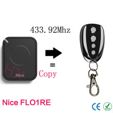 copy Nice FLO1RE 433.92mhz Rolling code remote control with battery