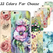 Cover For Apple iPhone 4 4S 5 5S 6 6S Plus 6Plus 5C Case Cases Phone Shell Soft TPU Painted Tempting Lotus Root Charm Girl Hot
