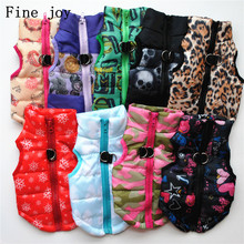 Fine joy New Winter Pet Dog Clothes For Small Dogs Warm Down Jacket Waterproof Dog Coat Thicker Cotton Clothing For Chihuahua(China)