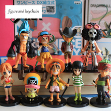 New PVC 9 Styles One Piece Action Figure Nami Luffy Usopp Model Toy Anime Keychain Gift Decoration Collectibles(China)