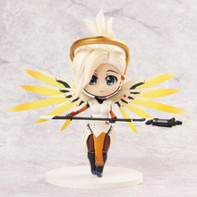Love Thank You OW Over game watch Overwatches Mercy cute figure toy Collectibles Model gift doll 13CM