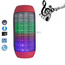 New Outdoor Portable Wireless Bluetooth Stereo Bass Speaker LED Lights Speaker Support U-disk TF card Boombox Speaker Amplifier(China)