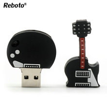 Best Sale U disk cartoon violin pen drive 64GB Flash Drive Memory stick Pendrive 4GB 8GB 16GB 32GB Fashion usb stick gift