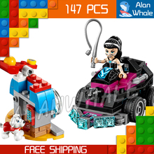 147pcs New DC Super Hero Girls 10613 Lashina Tank Model Building Blocks Assemble Bricks Toys Movie Games Compatible With Lego