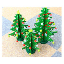 Zilue 1pcs/lot Wooden Christmas Decoration Tree Window Table Props Child Christmas Present Hotel Shopping Mall Window Decoration(China)