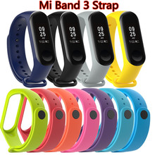 Bracelet for Xiaomi Mi Band 3 Sport Strap watch Silicone wrist strap For xiaomi mi band 3 accessories bracelet Miband 3 Strap(China)