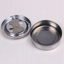 1 PC Creative Stainless Steel Rubbish Box New Practical Home Table Cleaning Accessories Lid Rotation Fully Enclosed Box