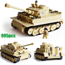 Century Military German King Tiger Tank 3D Model 323 Cannon Building Blocks Bricks Sets Kazi KY82011 Toys Gift for kid boy(China)