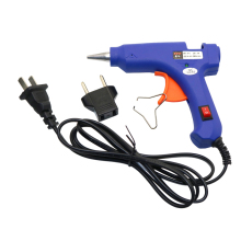 High Temperature Heater 20W Mini Hot Glue Gun Carry 2 Pcs Canes Hot Melt Glue Eu Plug Blue Glue Pistol Heat Repair Tool Melted