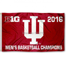 IU Hoosiers Big 10 Mens Basketball Champs College Large Outdoor Flag 3ft x 5ft Football Hockey College USA Flag(China)